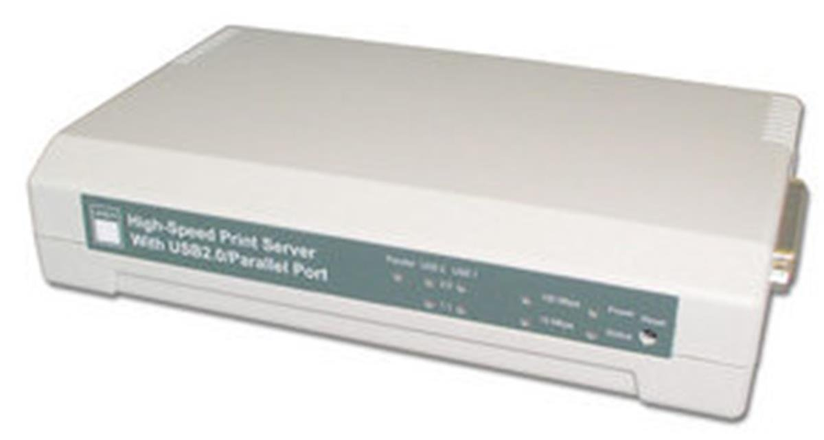 LINDY Print Server 10/100Base-TX 2 USB 2.0 with 1 Parallel (42392)