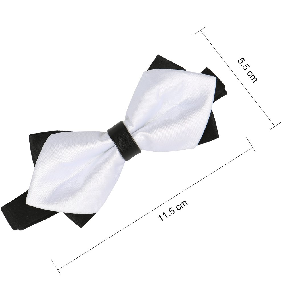 Gift Idea For Men And Boys Elegant Pre-tied Bow Ties Formal Tuxedo Bowtie Set with Adjustable Neck Band Rlihana Mens Tied Bow Ties