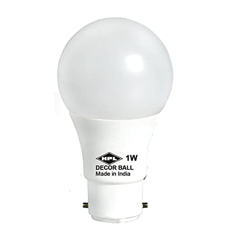 Hpl 1 Watt Led Bulb Pack Of 2 White