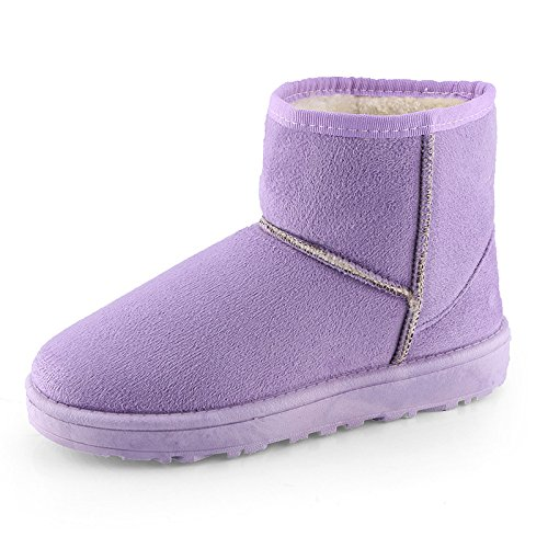 Women Warm Purple Purple Boots Women Boots Warm O7gqII