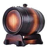 5 Liter Oak Without Gallstones Without Wax Baking Oak Barrel Restaurant Exhibition Family Natural Wine Barrel Decoration,Red