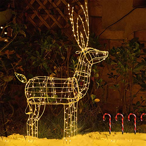 Lighted Christmas Reindeer Outdoor Decorations in US - 1