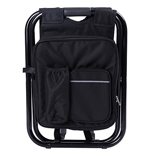 Backpack Chair,Portable Camping Stool,Foldable Chair with Double Layer Oxford Fabric Cooler Bag for Fishing,Beach,Camping,House and Outing