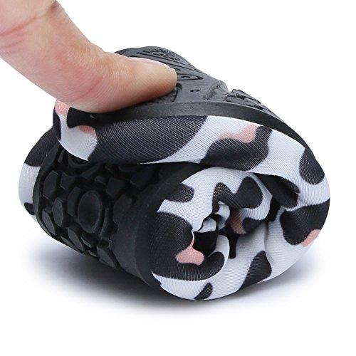 Barerun Kids Quick-Dry Wasserschuhe Leichte Aqua Socken für Beach Pool Surf Yoga Übung Leopard