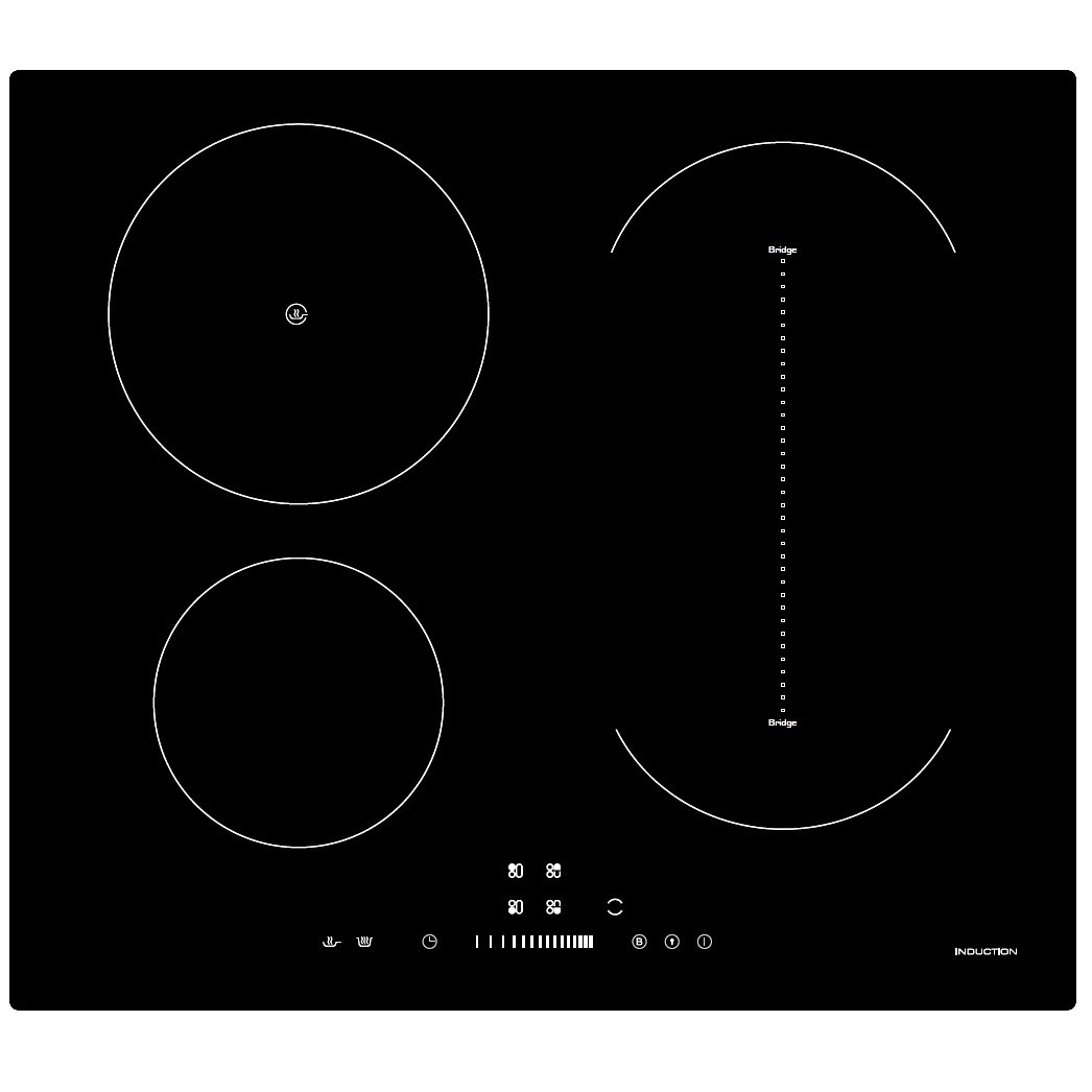 Cookology CIB605 Induction Hob | 60cm, Black, Built-in, Bridge Zone