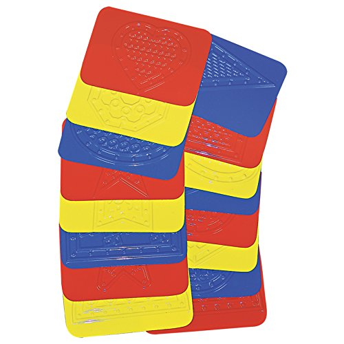 Roylco R-48230BN Rubbing Plates Teach Me Shapes, 4 X 5-1/4, 16/Pk, 2 Packs/CT ROYLCO INC.