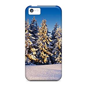 Slim Fit Tpu Protector Shock Absorbent Bumper Winter Sunrise Case For Iphone 5c