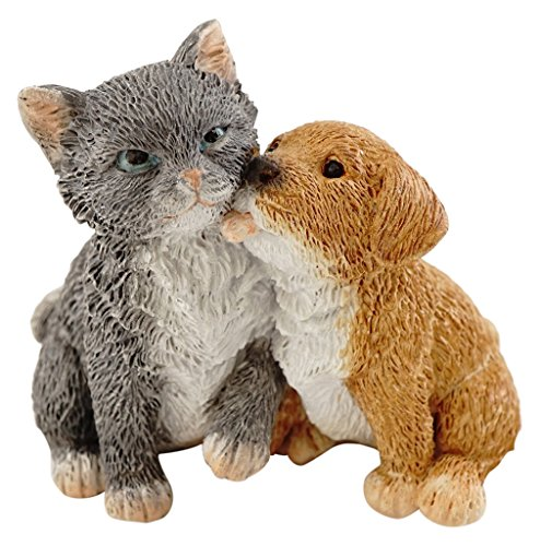 Top Collection Miniature Fairy Garden and Terrarium Puppy and Kitty Friends - Figurine Dog Friends