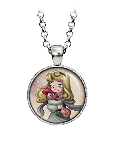 078e6471 Amazon.com: Young Aurora Necklace, Disney Princess Aurora Pendant, Child  Aurora Earrings, Disney's Kid Princesses: WearableTreasures: Jewelry