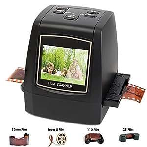 DIGITNOW! 22MP Film & Slide Scanner All-in-1, Super 8 Film,110/126 Film, 35mm Negative/Slide to Digital JPEG Converter Viewer