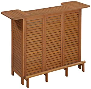 Home Styles 5661-99 Montego Bay U-Shaped Outdoor Bar Cabinet, Eucalyptus Finish