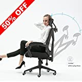 X-Office Office Chair High Back Ergonomic Mesh Desk Chair Zero Gravity Recliner Computer Chair with Adjustable Headrest,Black