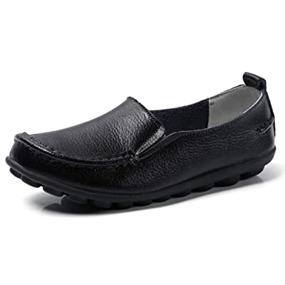 Harence Shoes for Women Comfortable Slip On Driving Loafers Casual Leather Walking Flats Shoes | Loafers & Slip-Ons