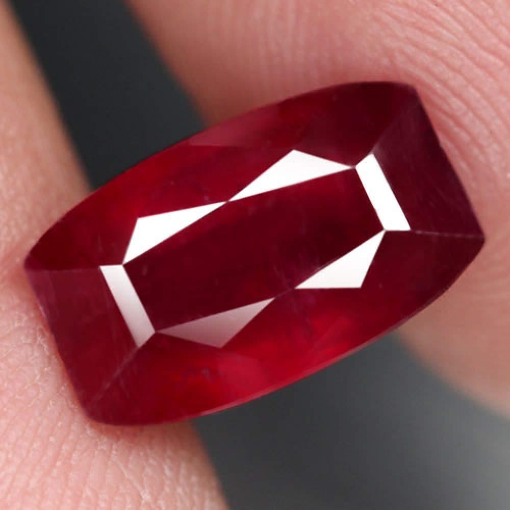 【天然大粒ルビールース 4.74ct:1630】12.2x7.5x4.8mm マダガスカル産 Natural Ruby 裸石 コランダム Madagascar   B07LF5MG3C