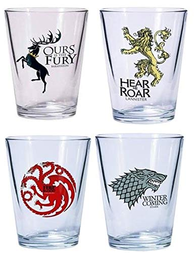 Dark Horse Deluxe Game of Thrones Shot Glass Set: Stark, Baratheon, Targaryen and Lannister