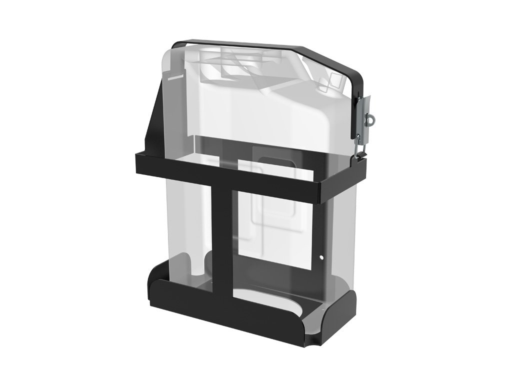 Vertical Jerry Can Holder Black All Steel Universal Mount - by Front Runner