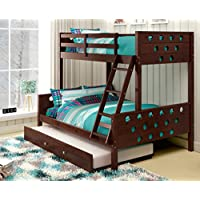Donco Kids Twin Over Full Circles Bunk Pine Dark Cappucino