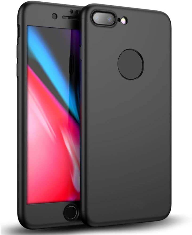 Full Case for Apple iPhone 7 Plus / 8 Plus | Front-Back Frame with TPU Cover