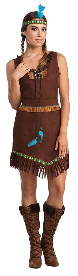 Karneval Klamotten Indianer Kostum Dame Apache Indianerin Kostum