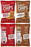 Protein Chips Healthy Snacks – Full Flavored Spicy Cinnamon and BBQ Savory Healthy Sweet Snack Pack, 6g High-Protein per Pack – Gluten-Free non-GMO, Half Fat of Potato Crisps – 8 x 1 Ounce Packs, USA Review