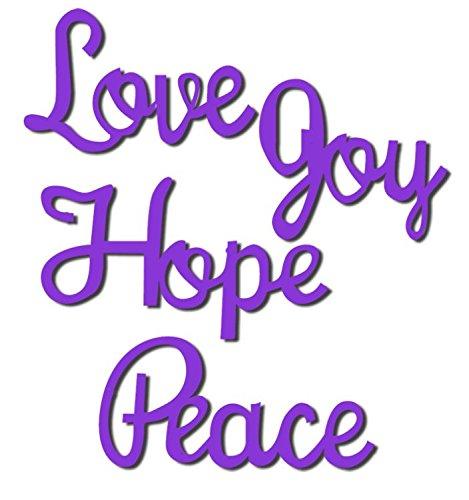 Sweet Dixie Love Joy Hope and Peace Die, Grey SDD078