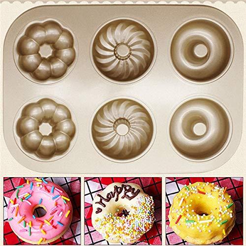 Molde redondo hueco de silicona para tartas y chocolates, diseño de 3 flores, 1 unidad, Hollow flower