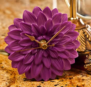 Dahlia Clock – Hand Painted Flower Clock By Ibis Orchid Designs