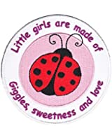 """Animal Patch - Ladybug """"Little Girls Made of Giggles, Sweetness & Love"""" Applique"""