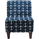 Parker Lane Uch-Amanda-sai1 Armless Slipper Chair, Sailor Anchor