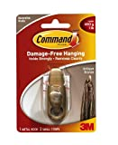 Command Forever Classic Small Metal Hook, Antique Bronze by Command