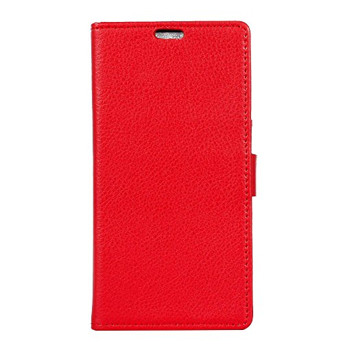Nokia 6 1 Plus Case  Premium Pu Leather Wallet Case Tpu Inner Credit Card Holders Flip Folio Shockproof Stand Cover For   Red