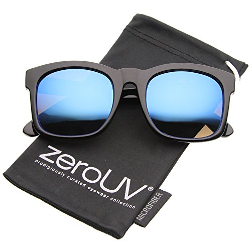 zeroUV Fashion Oversized Mirror Sunglasses
