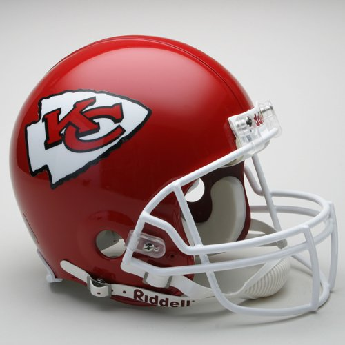 (NFL Kansas City Chiefs Full Size Proline VSR4 Football Helmet)
