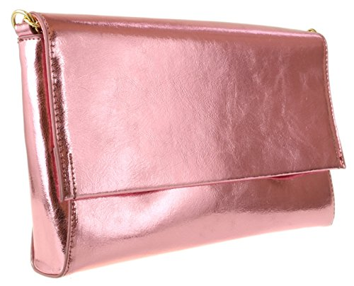 Bag Girly Girly HandBags Effect Pink HandBags Clutch Metallic PFZPqY