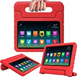 Surom Kids Case Compatible A m a z o n F i r e 7 2017,ShockProof LightWeight Convertible Handle Stand Protection Cover for kids F i r e 7 Inch Display Tablet (7th Generation,2017 Release), Red