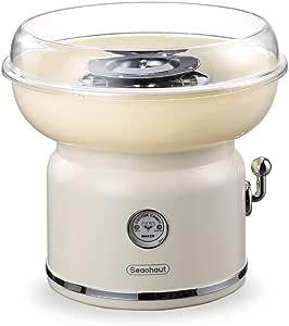 LKSIING Máquina de Hacer Algodón de Azúcar Cotton Candy Machine Profesional Fácil de Usar Material de Calidad Alimentaria 500W,Blanco: Amazon.es: Deportes y aire libre