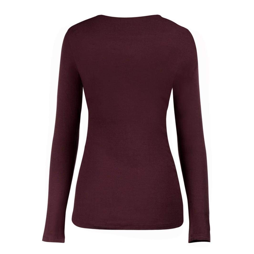c344972fa39f7 Amazon.com: Clearance Sale! Women's Breastfeeding Shirt, Jiayit Mom  Pregnant Nursing Baby Maternity Long Sleeved Solid Tops Blouse Clothes (S,  Wine): Health ...