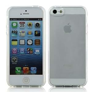 Caso de la piel cubierta de goma del gel del claro TPU Frost Soft para Apple iPhone 5