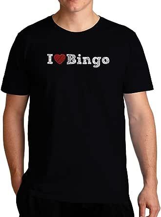 Eddany I Love Bingo Sketch Style T-Shirt