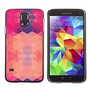 """For SAMSUNG Galaxy S5 V / i9600 / SM-G900 Case , Polígono rosa púrpura abstracto Patrón"""" - Diseño Patrón Teléfono Caso Cubierta Case Bumper Duro Protección Case Cover Funda"""