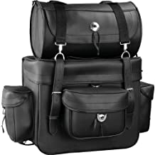 Raider Motorcycle Leather Touring Storage Luggage Bag with Removable Roll Bag