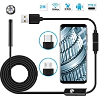 Usb Endoscope Inspection Camera Wateproof Snake Camera for Android with 6 LED 2MP 2M