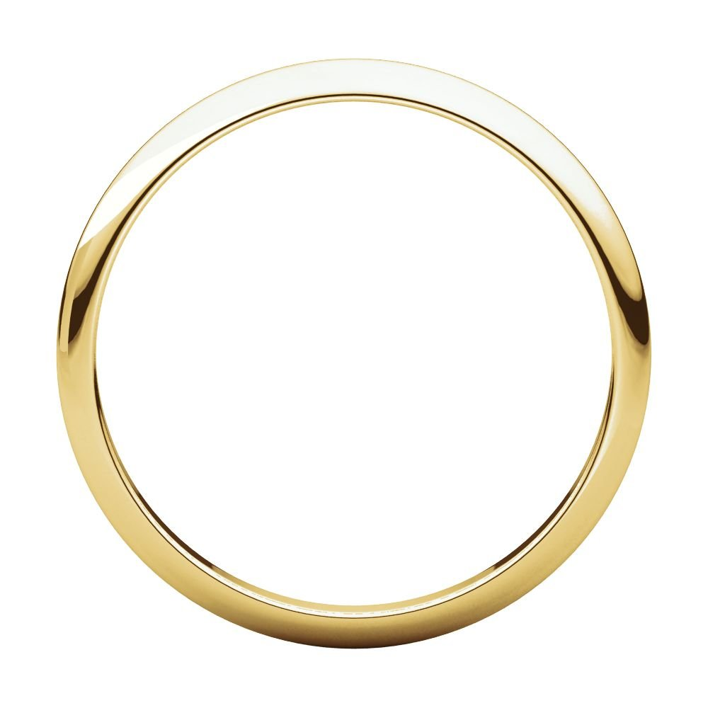 Jewels By Lux 18K Yellow Gold 1.5mm Half Round Bridal Wedding Ring Band