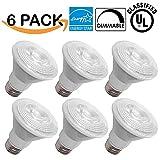 6 PACK - PAR20 LED 7 WATT (50W Equivalent), 3000K Warm White, DIMMABLE, Indoor/Outdoor Lighting, 470 Lumens, Flood Light Bulb-UL & ENERGY STAR LISTED
