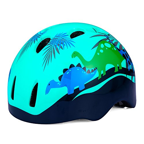 KINGBIKE Child Kids Youth Bike Helmet Skateboard Cycling Skate Scooter Roller for Kids 8 14 Years Age Blue Boys Girls (52 56cm)