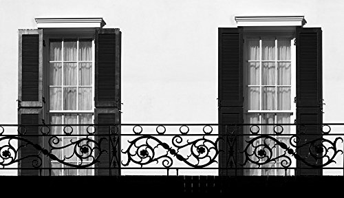 Vintography 18 x 24 B&W Photo Windows Balcony Railing at The United States Trade Representative's Winder Building, Washington, D.C. 2011 Highsmith 85a