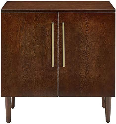 Crosley Furniture Everett Mid-Century Modern Console Cabinet, Mahogany