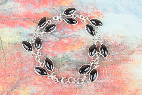 - Black Onyx Bracelet , 925 Sterling Silver Bracelet , Black Bracelet, Tennis Bracelet, Bridal Bracelet, Birthday Gift, Relationship Bracelet, Mermaid Gift , Marquis Stone Bracelet, Onyx Jewellery