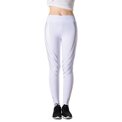 50b40868bdbd19 Cutoget Women's Yoga Leggings Glowing Pant High Waist Gym Sports Slimming  Workout Casual: Amazon.in: Home & Kitchen