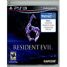 Resident Evil 6 (Walmart Exclusive w/ 3 Pack of Resident Evil 6 Character Decals)